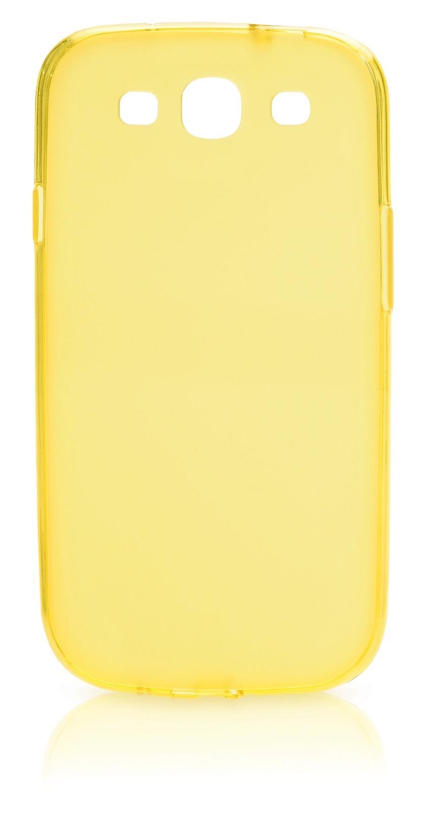 Чехол накладка Gurdini силикон матовый 380325 для Samsung Galaxy S3,380325,желтый