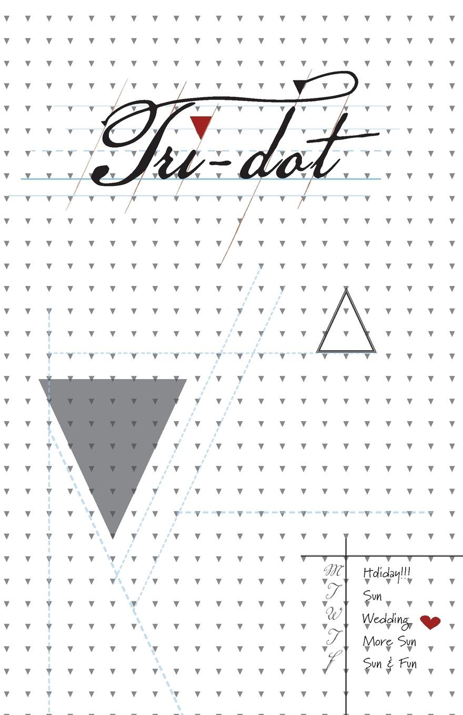 Tri-Dot. Triangle-Dot Grid Notebook the dot