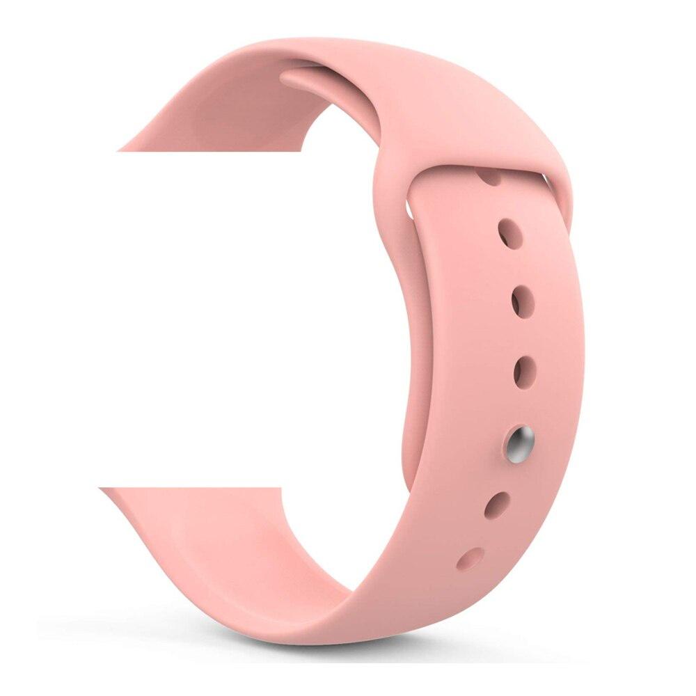 Ремешок для Apple Watch силиконовый светло-розовый 38 40 мм ремешок dbramante1928 mode madrid для apple watch 38 мм темно розовый