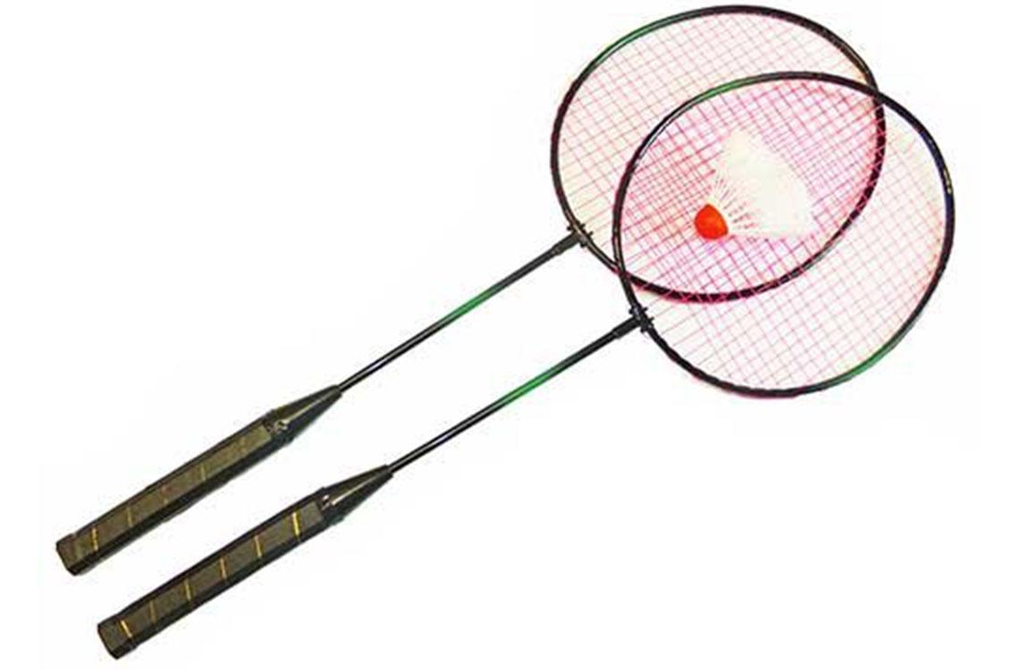 HS-001 Набор для бадминтона (2 ракетки, волан, чехол-сетка) набор бадминтон 2 ракетки 1 волан 57891