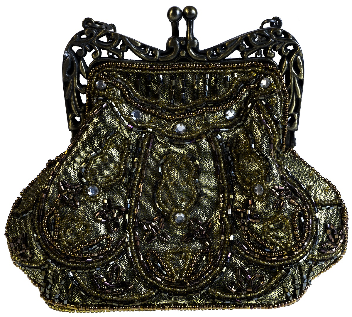 Сумочка дамская. Текстиль, металл, бисер, стразы. Западная Европа, 1960-е гг. Нет бренда