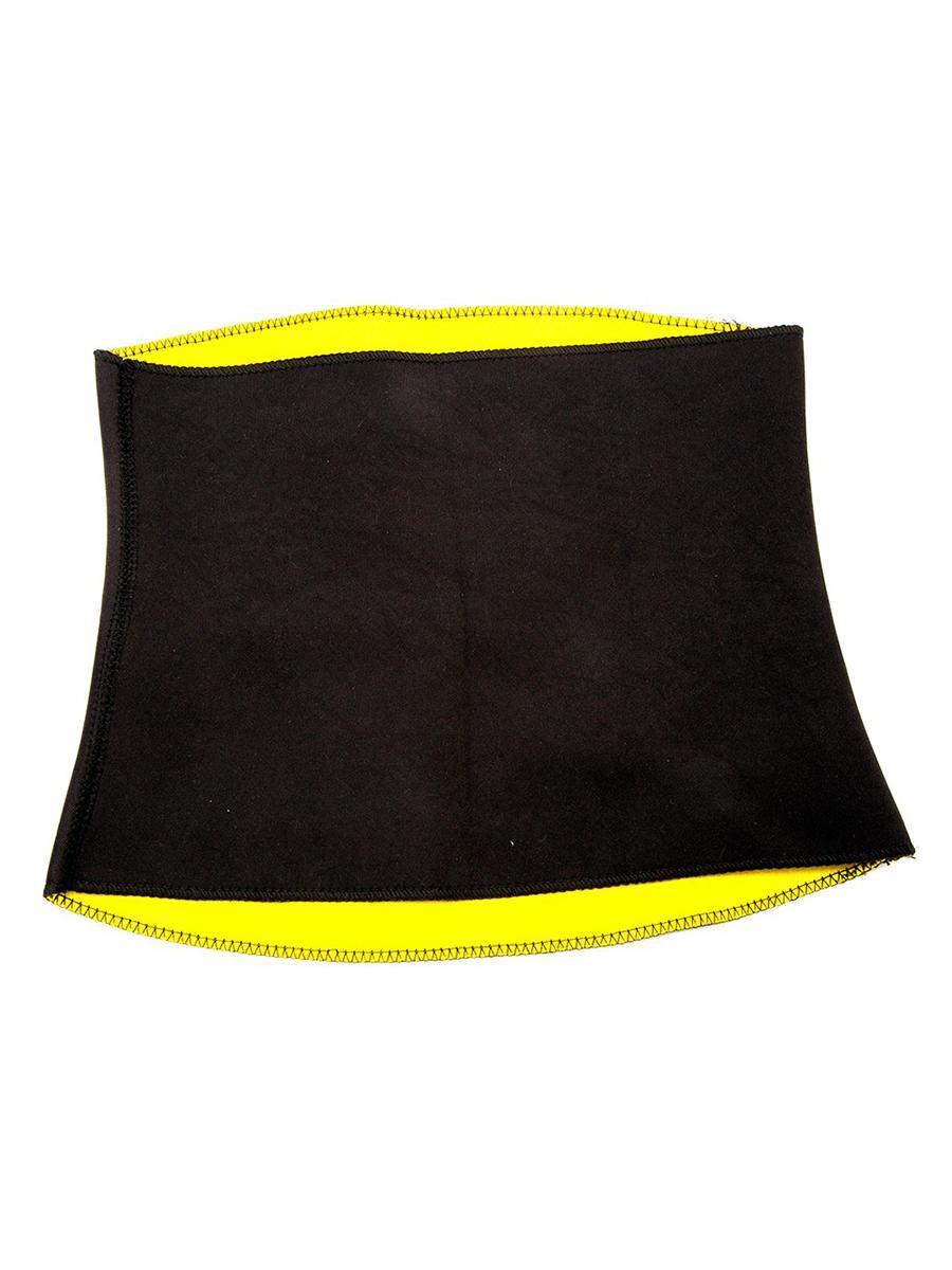 Утягивающий пояс для похудения TipTop Черный с желтым XXXL TipTop