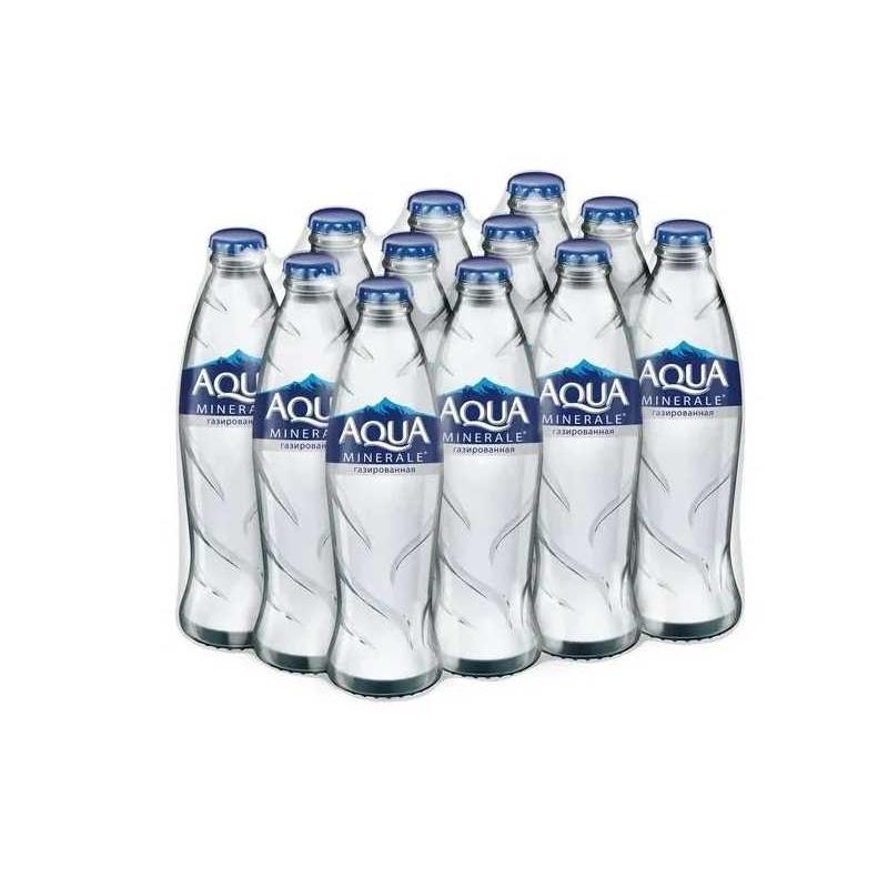 Вода Aqua Minerale газированная питьевая (стекло), 0,25л (упаковка 12шт)