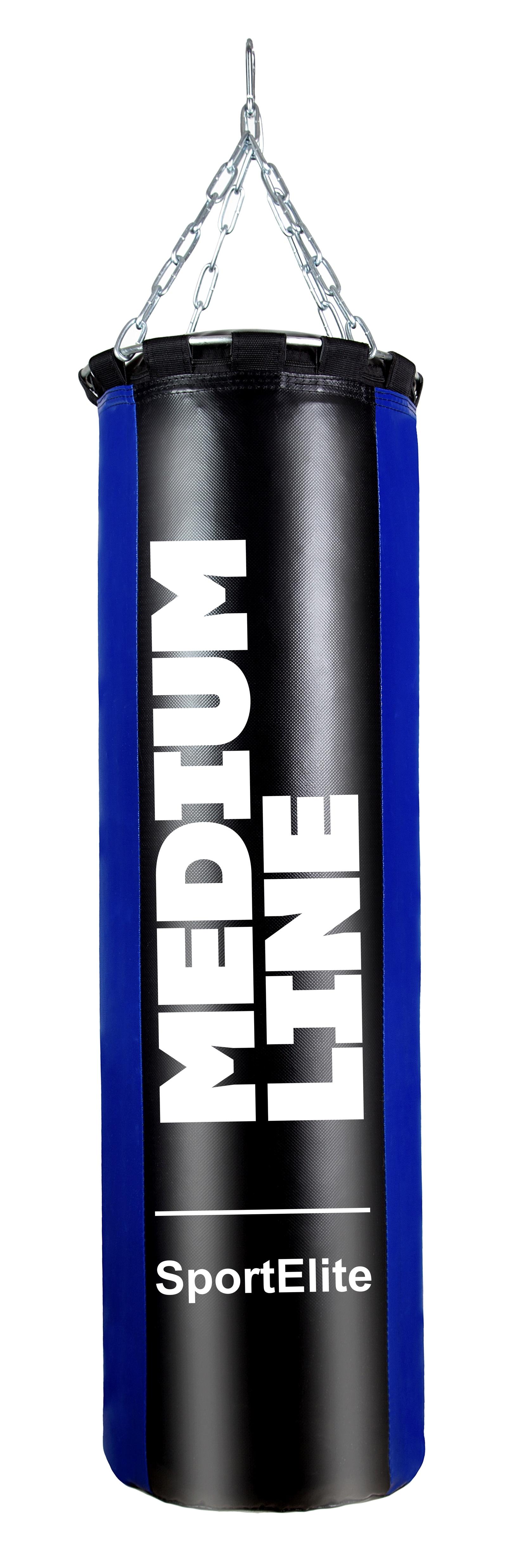Мешок боксерский SportElite MEDIUM LINE 120см, d-34, 45кг, сине-черный