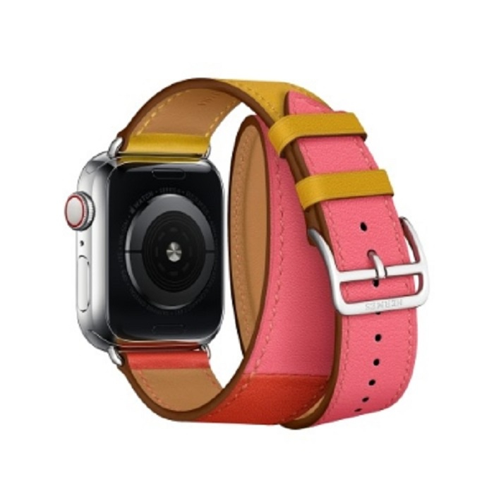 Ремешок кожаный COTEetCI W36 Fashoin Leather (WH5260-44-ACR) для Apple Watch 44mm/42mm (short) Red-Yellow аксессуар ремешок apple watch 42mm activ yellow sport band 79562