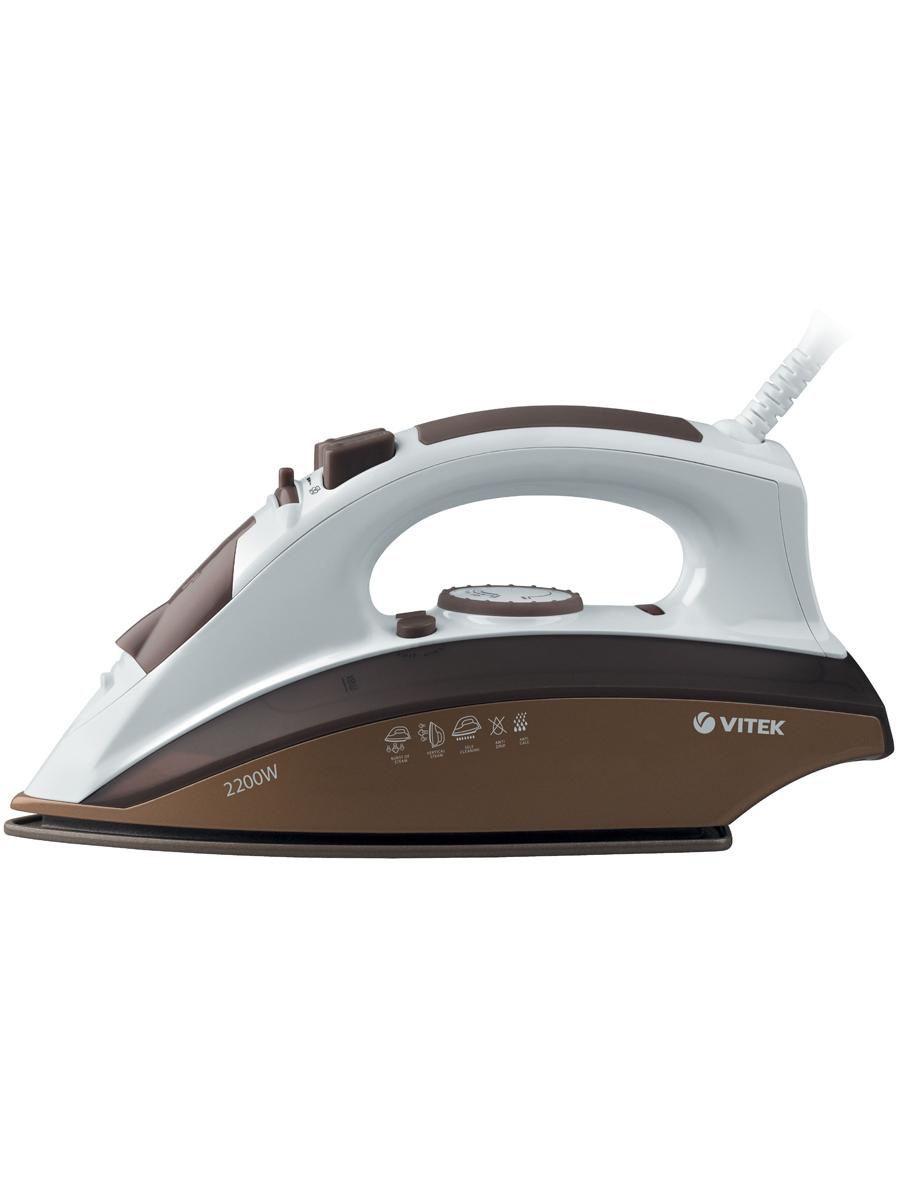 Утюг VITEK 2400 Вт, подошва Ceramic UltraCare.Паровой удар 140 г/мин.