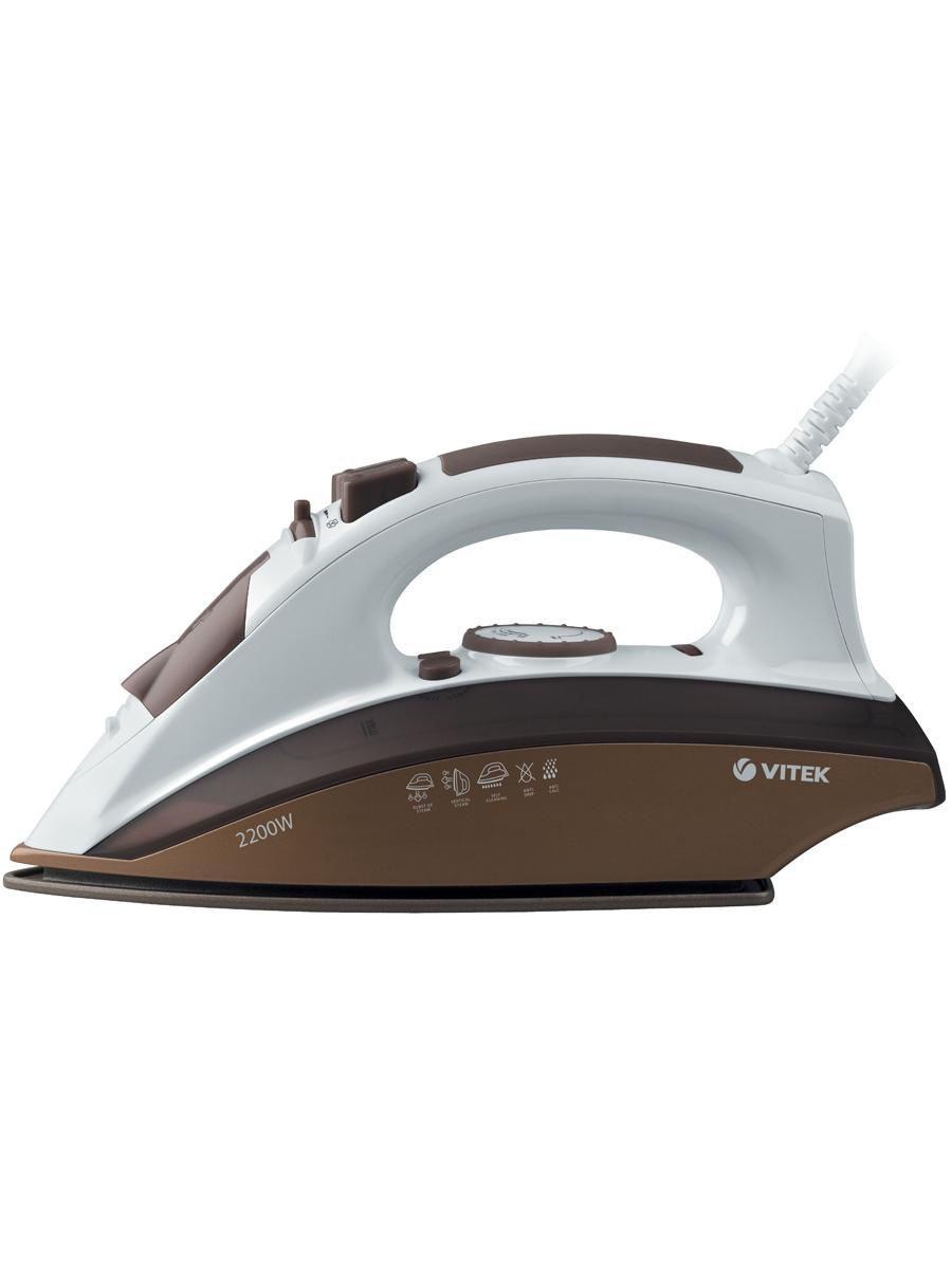 Утюг VITEK 2400 Вт, подошва Ceramic UltraCare.Верт. отпаривание, паровой удар 140 г.