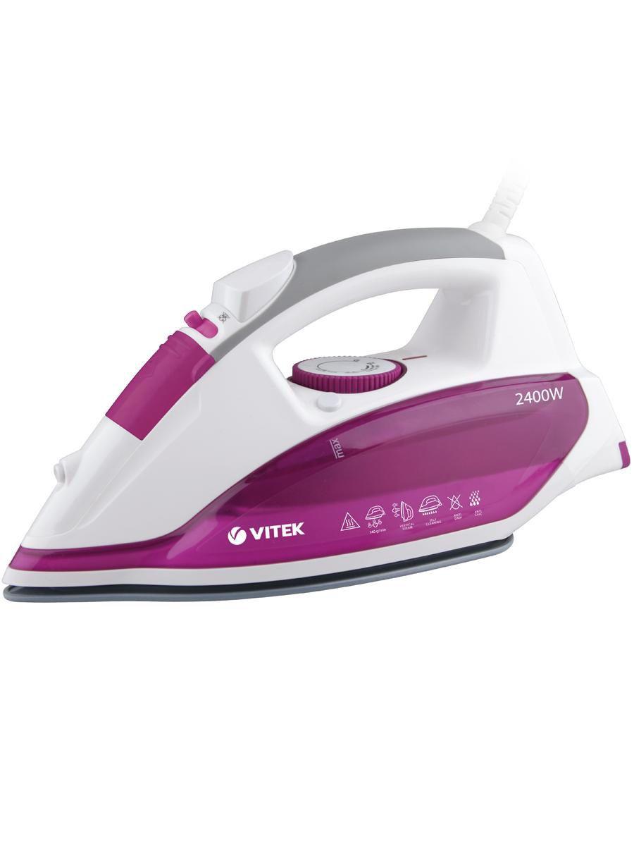 Утюг VITEK Мощность 2400 вт.Материал подошвы Ultra Care - Антипригарное покрытие.
