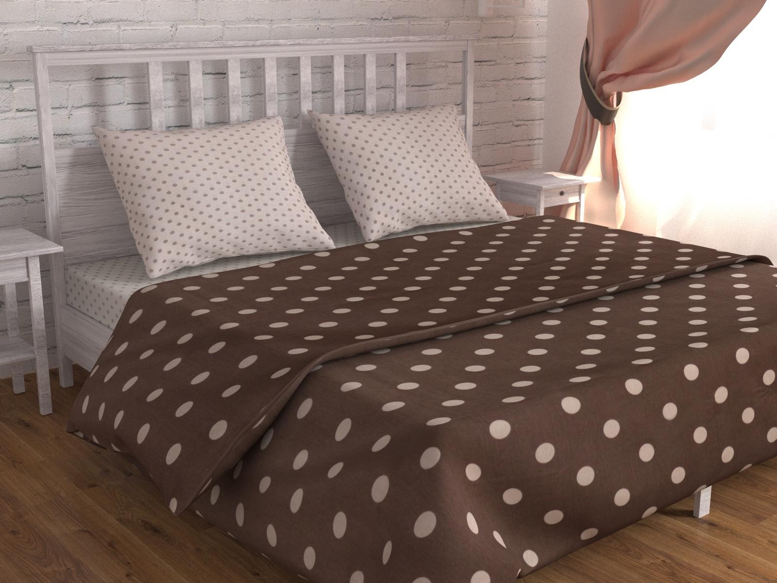 цена Постельное белье Зона сна бежевый,коричневый 183-KPB50EvB-ZS Евро онлайн в 2017 году