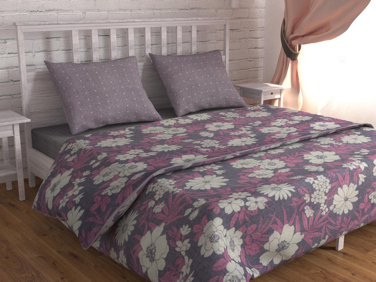 цена Постельное белье Зона сна серо-голубой,розовый 177-KPB50EvB-ZS Евро онлайн в 2017 году