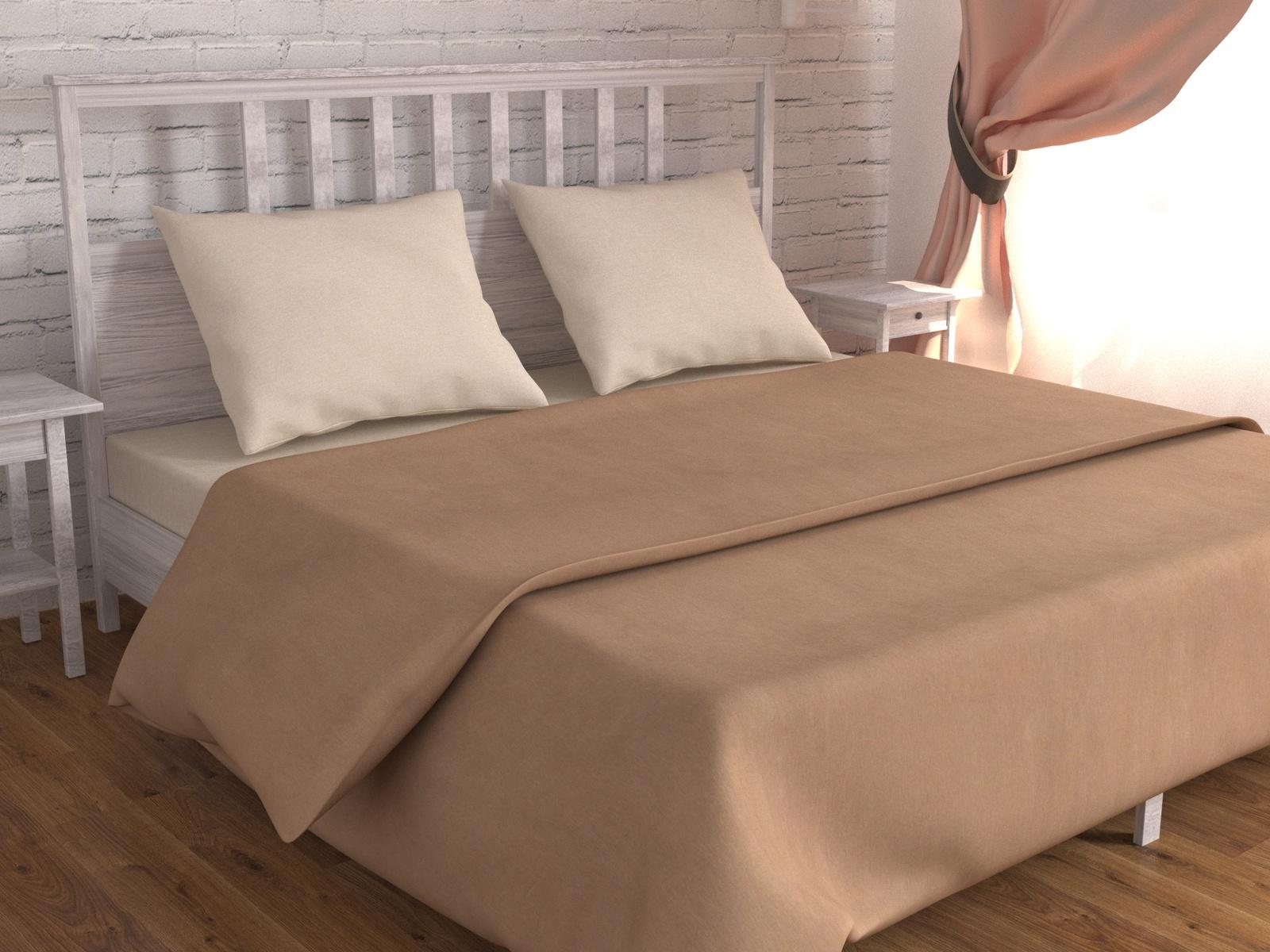 цена Постельное белье Зона сна молочный,коричневый 193-KPB50EvR-ZS Евро онлайн в 2017 году