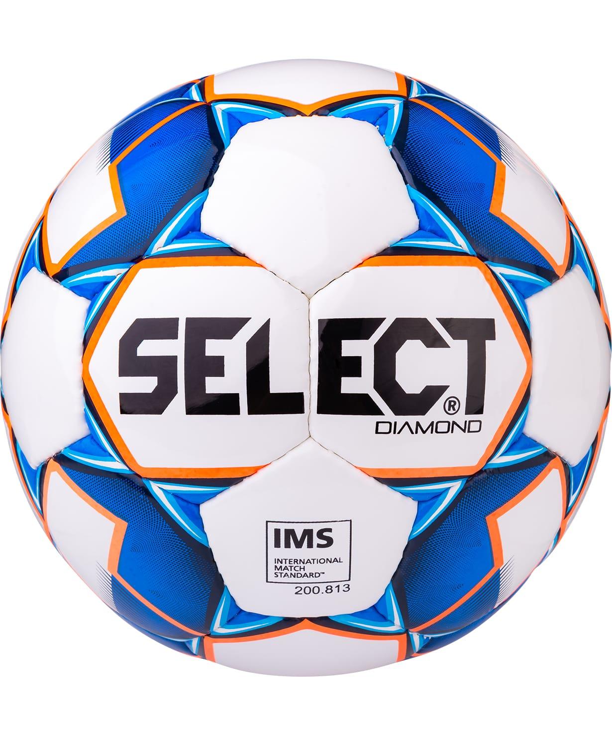 Мяч футбольный Select Diamond IMS №5, белый/синий/оранжевый