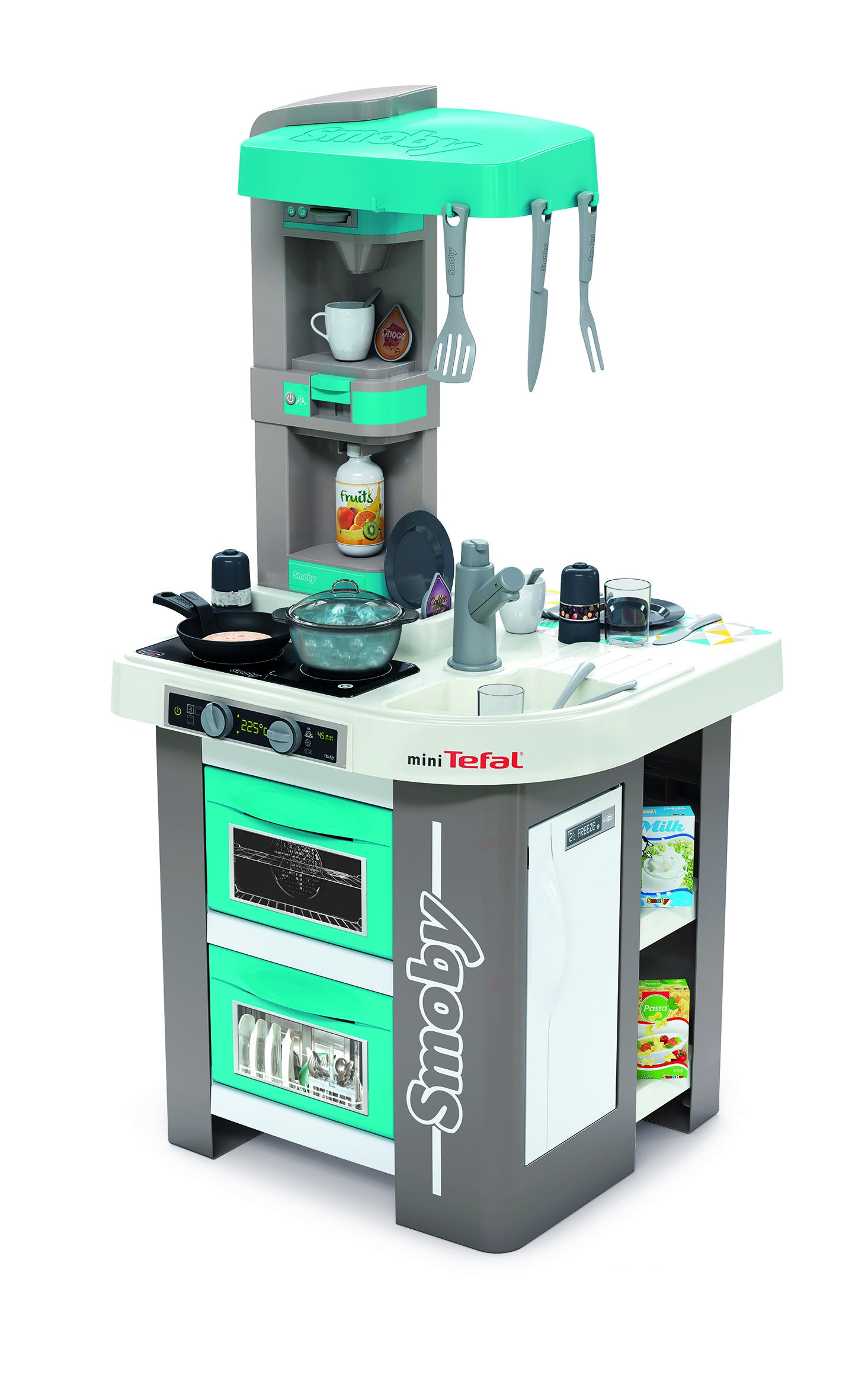 Кухня электронная Tefal Studio, пузырьки, 28 акс., 48х46,5х99 см smoby кухня электронная tefal super chef deluxe звук пузырьки 46 аксессуаров 311304