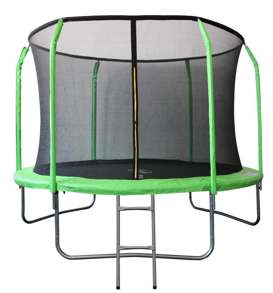Батут SportElite 3,05м GB30201-10FT с защитной сеткой внутрь и лестницей, салатовый
