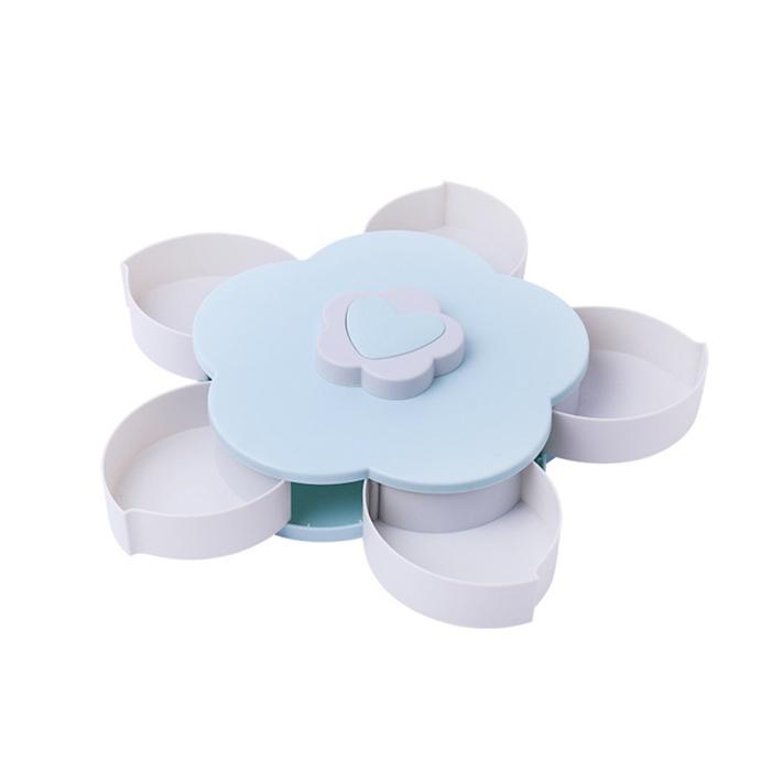 Контейнер с отделениями, голубой, 28х9х27 см