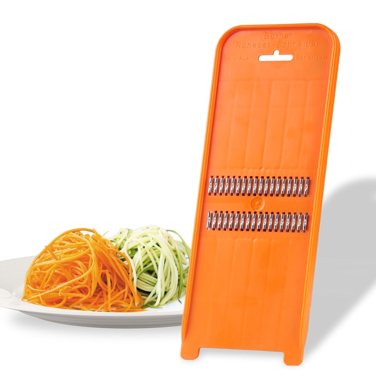 Роко-терка Borner Classic (Германия) для корейской моркови, цвет: оранжевый овощерезка для декораций borner классика германия цвет салатовый
