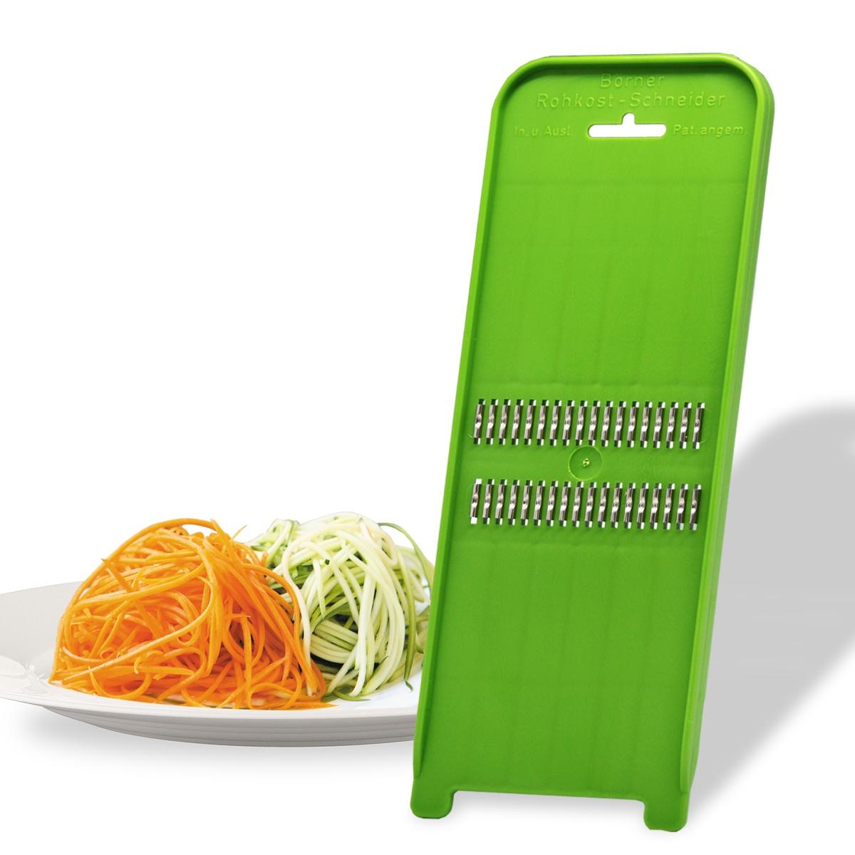 Роко-терка Borner Classic (Германия) для корейской моркови, цвет: салатовый овощерезка для декораций borner классика германия цвет салатовый