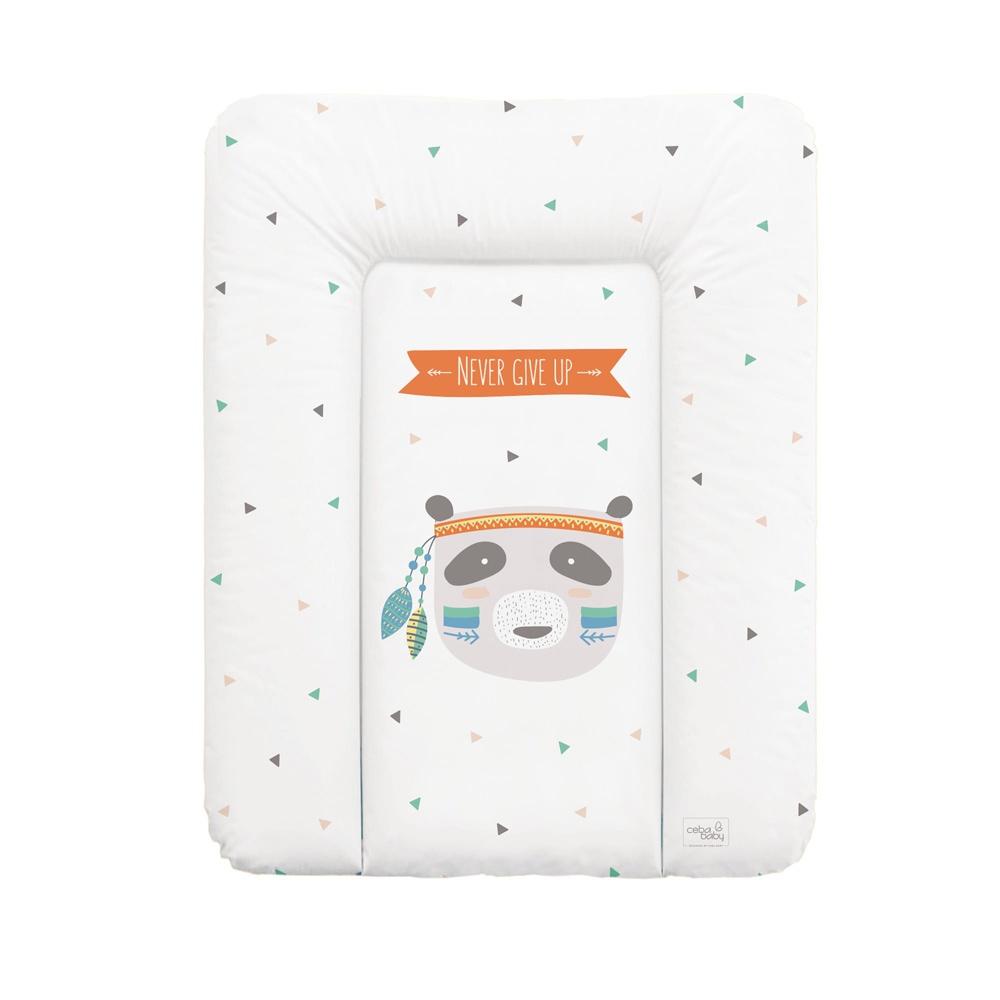 накладки для пеленания ceba baby накладка для пеленания с изголовьем 50х80 Матрац пеленальный Ceba Baby 70x50 см мягкий на комод Osito W-143-101-556