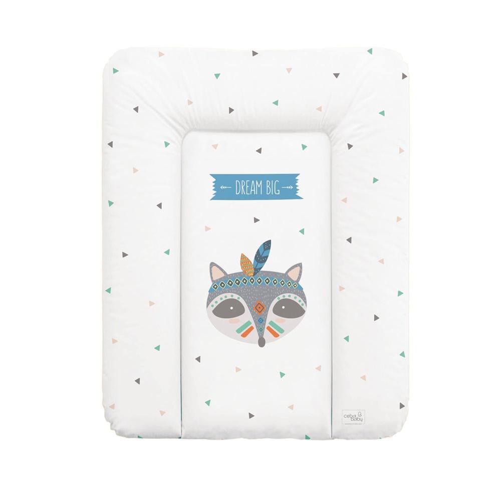 накладки для пеленания ceba baby накладка для пеленания с изголовьем 50х80 Матрац пеленальный Ceba Baby 70x50 см мягкий на комод Zorro W-143-101-555