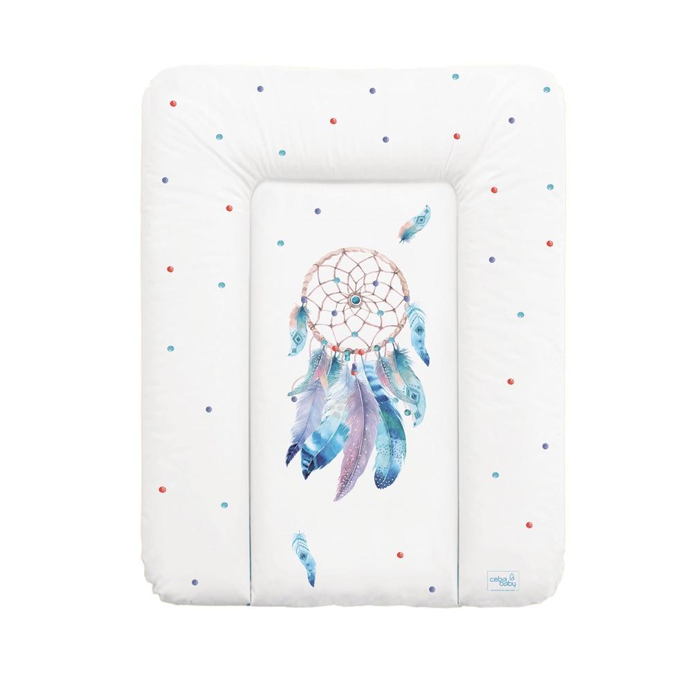 накладки для пеленания ceba baby накладка для пеленания с изголовьем 50х80 Матрац пеленальный Ceba Baby 70x50 см мягкий на комод Sueno W-143-101-557
