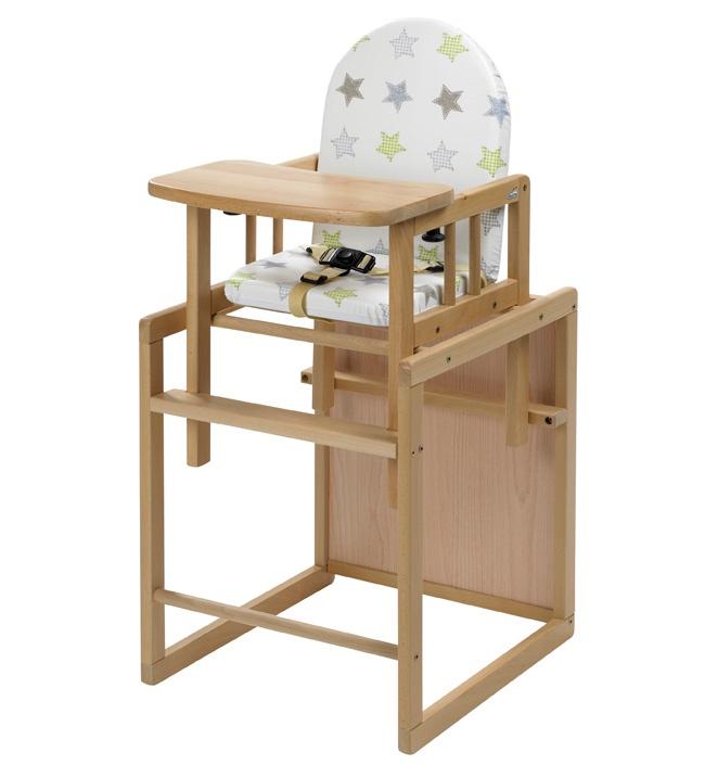 Высокий стул-трансформер Geuther Nico натуральный со звездами geuther family и filoг звезды