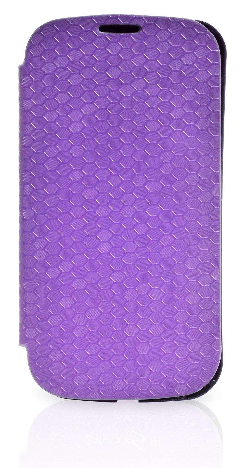 Чехол Gurdini Flip Case соты 380036 для Samsung Galaxy S3,380036, фиолетовый