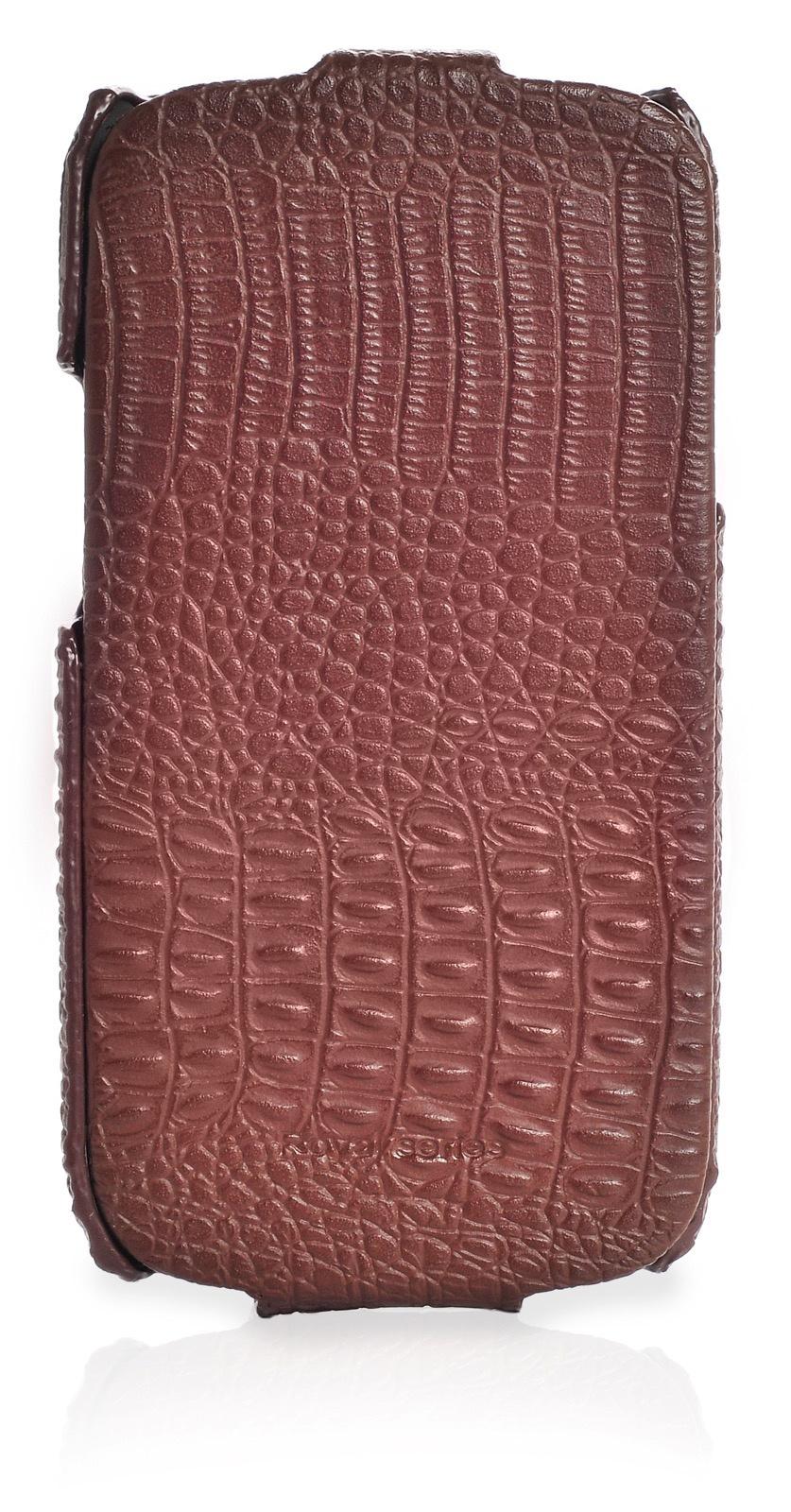 Чехол книжка HOCO кожа крокодил для Samsung Galaxy S3,450073, коричневый