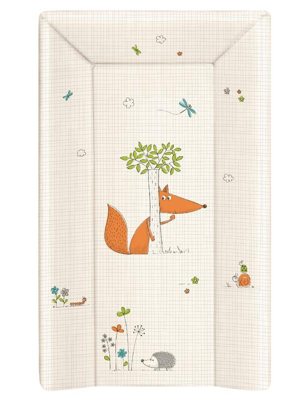 накладки для пеленания ceba baby накладка для пеленания с изголовьем 50х80 Матрац пеленальный Ceba Baby 70 см мягкий с изголовьем Fox ecru W-103-059-170