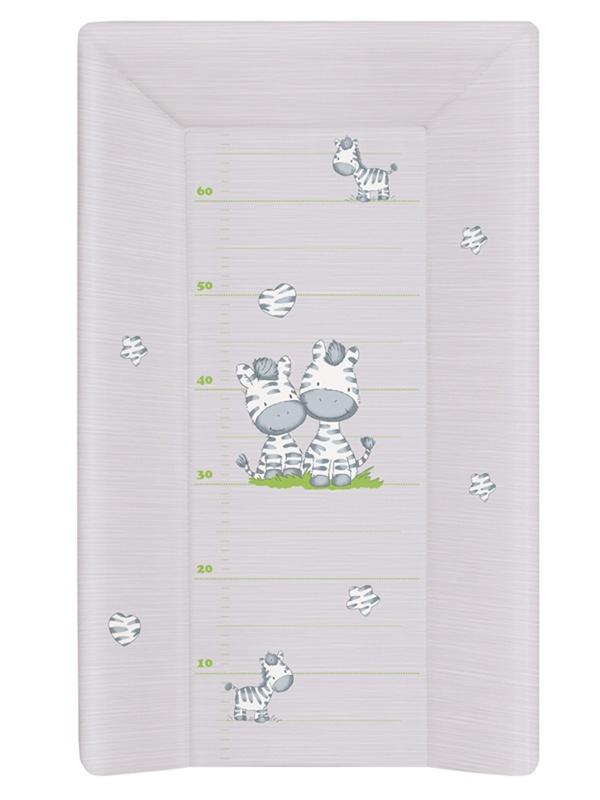 накладки для пеленания ceba baby накладка для пеленания с изголовьем 50х80 Матрац пеленальный Ceba Baby 70 см мягкий с изголовьем Zebra grey W-103-002-260