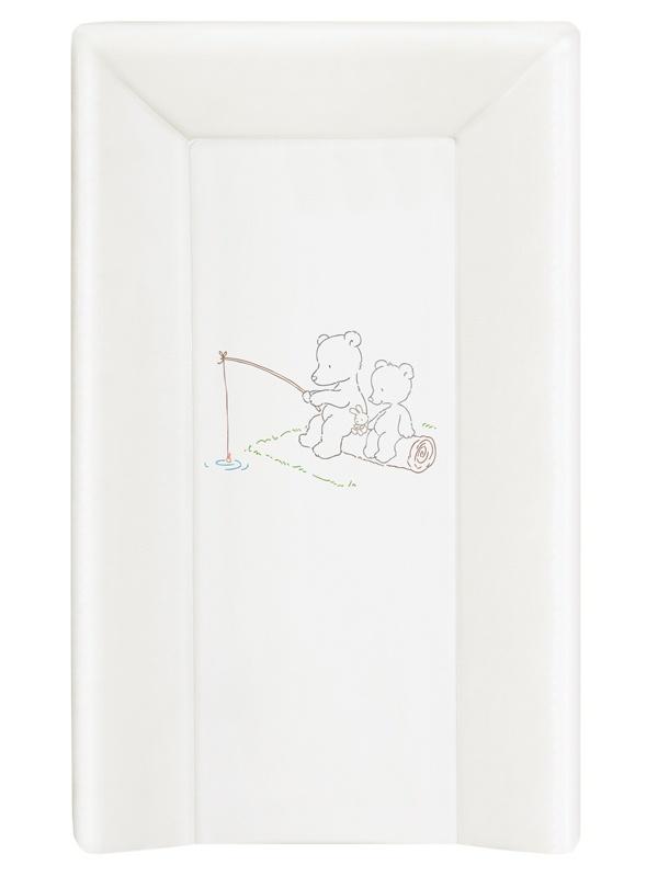 накладки для пеленания ceba baby накладка для пеленания с изголовьем 50х80 Матрац пеленальный Ceba Baby 70 см мягкий с изголовьем Papa Bear white W-103-004-100
