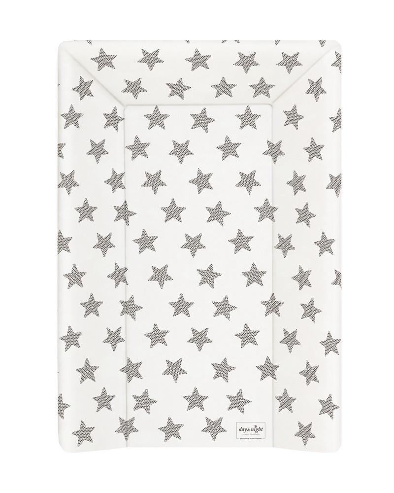 накладки для пеленания ceba baby накладка для пеленания с изголовьем 50х80 Матрац пеленальный Ceba Baby 70 см мягкий с изголовьем Day & Night Stars W-103-094-522