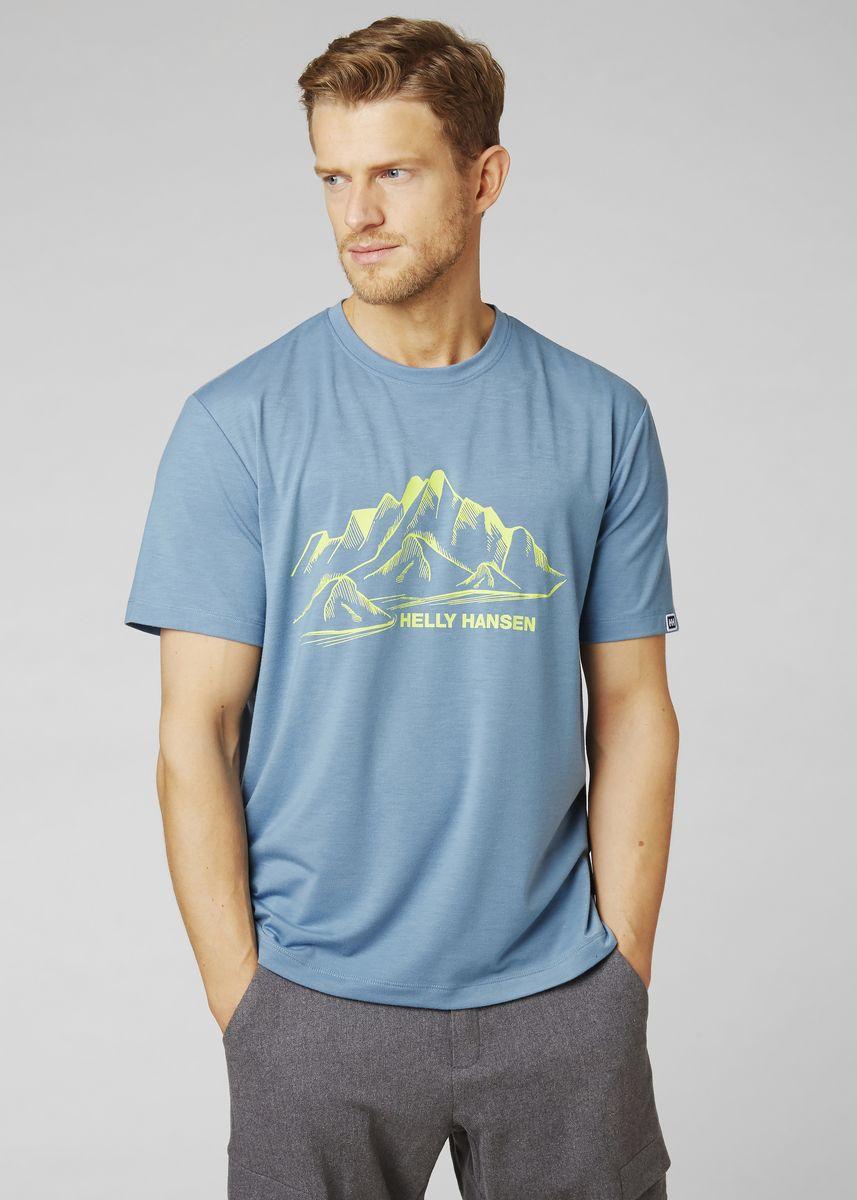 Футболка Helly Hansen Skog Graphic T-Shirt футболка женская helly hansen w skog graphic t shirt цвет розовый 62877 104 размер xl 48