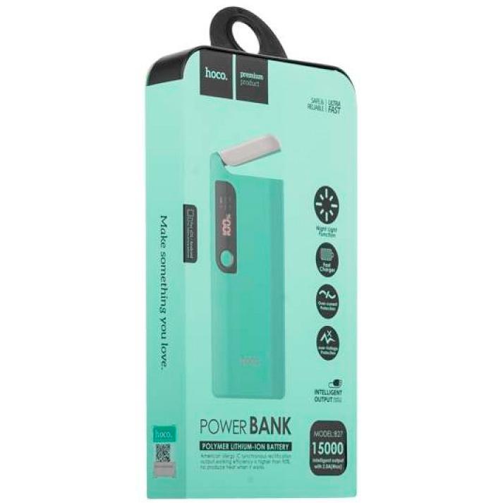 Внешний аккумулятор 15000мАч Hoco B27 - Голубой