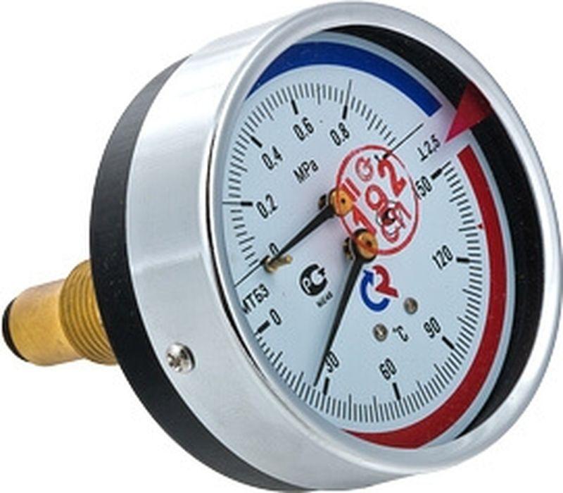 Термоманометр сантехнический Valtec ТМТБ-31T Дy 80, с задним подключением 1/2, 10 бар 0-150*