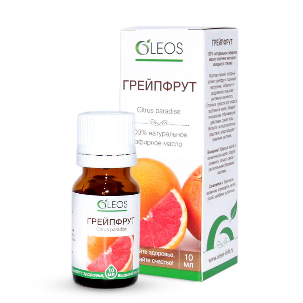 Масло косметическое Oleos Грейпфрут 10 мл ароматерапия грейпфрут свойства