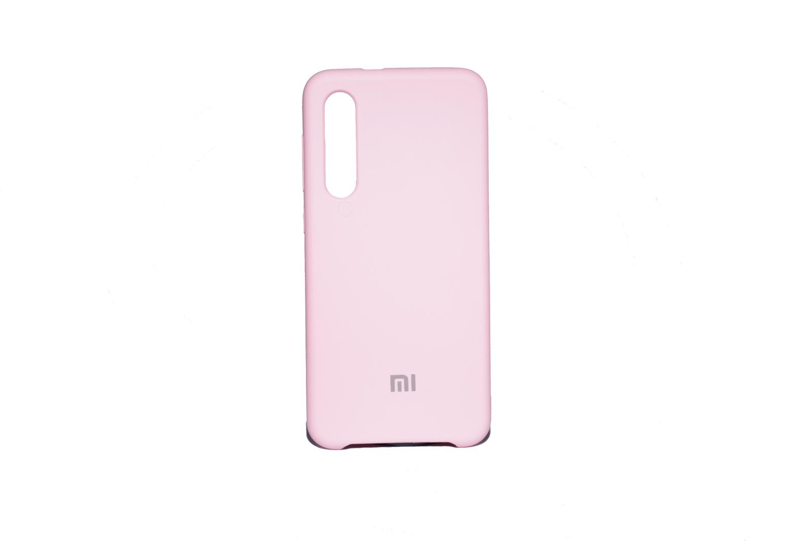 Чехол Silicone cover Xiaomi Mi 9 SE светло-розовый