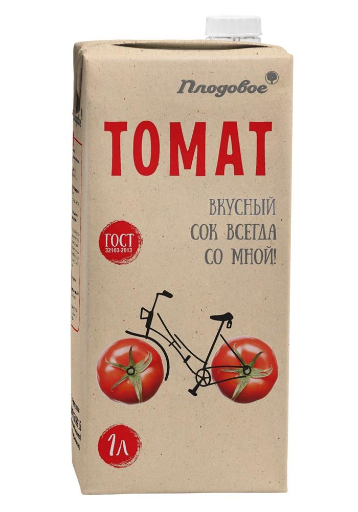 Сок томатный восстановленный 1 л. Плодовое 4 сезона сок томатный 1 л