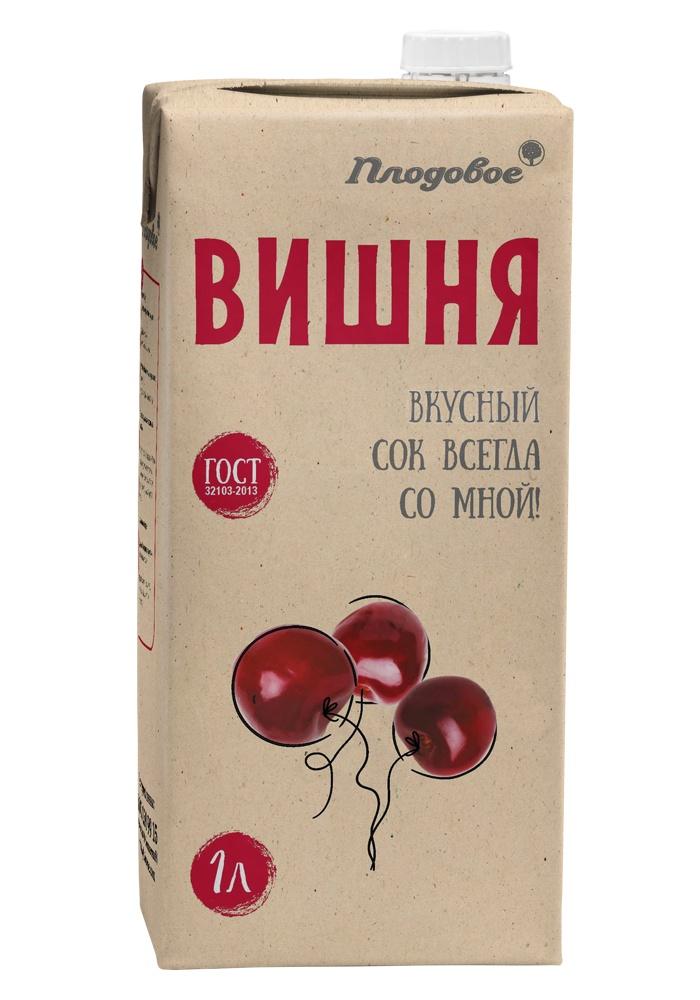 Сок вишневый восстановленный 1 л. Плодовое