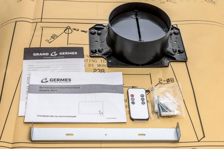 Вытяжка кухонная Germes Aura (90см, белый) . ...