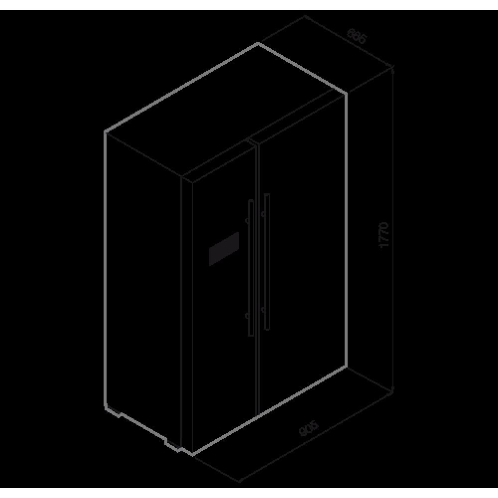 Холодильник GRAUDE SBS 180. 0 E GRAUDE