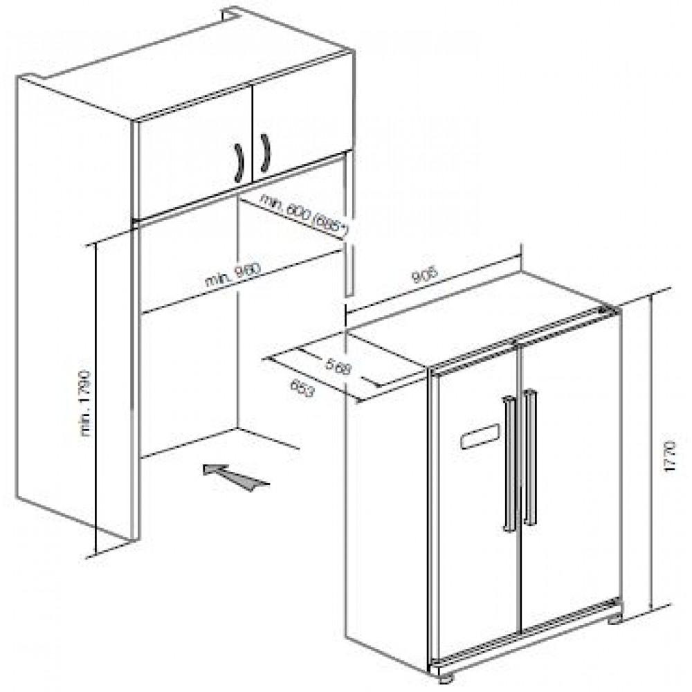 Холодильник GRAUDE SBS 180. 0 W GRAUDE
