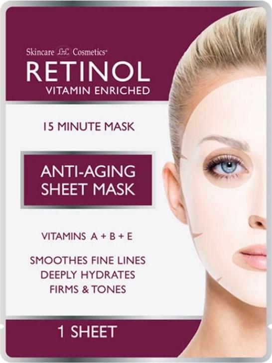 Интенсивная антивозрастная тканевая маска Retinol 12 шт по 18 мл Retinol
