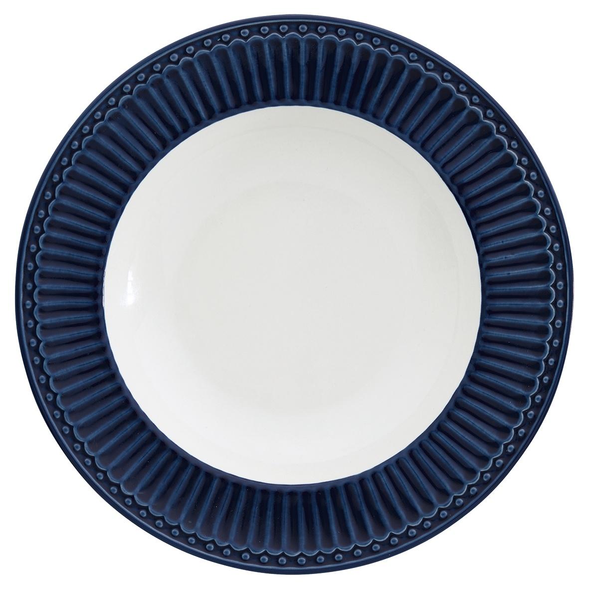 Глубокая тарелка Greengate Alice dark blue 21,5 см