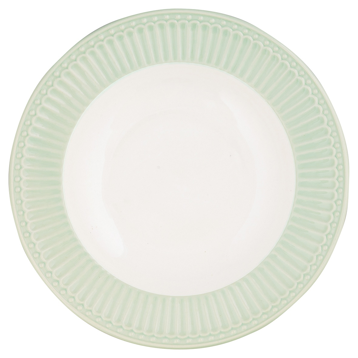 купить Глубокая тарелка Greengate Alice pale green 21,5 см по цене 702 рублей