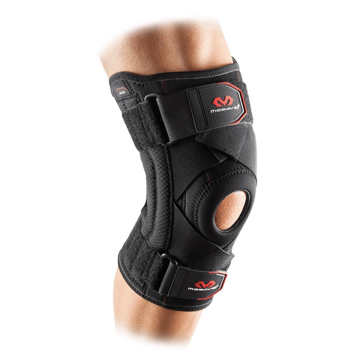 цена на McDavid 425XL Неопреновый бандаж колена с ремнями для защиты крестообразных связок (McDavid 425)