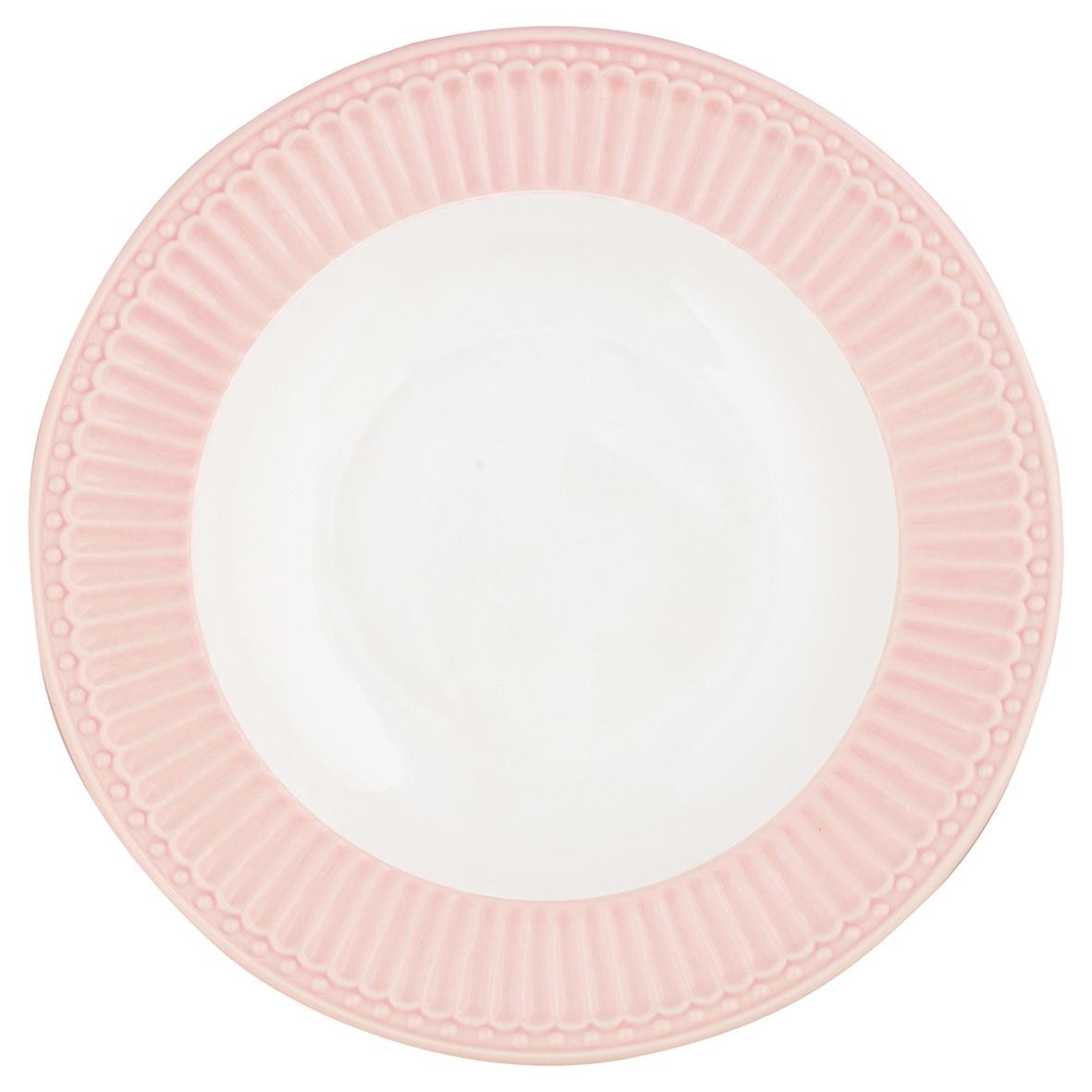 Глубокая тарелка Greengate Alice pale pink 21,5 см