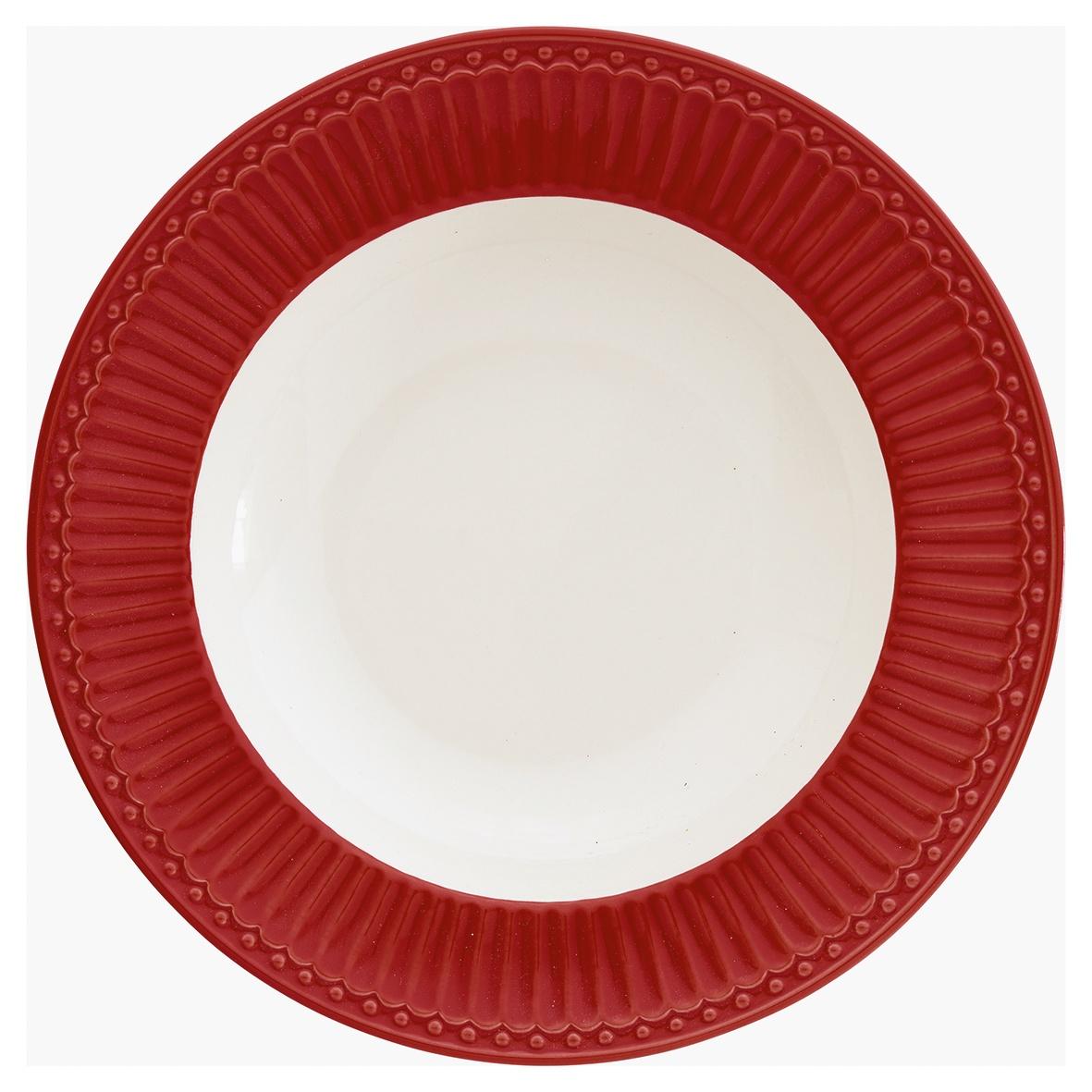 Глубокая тарелка Greengate Alice red 21,5 см