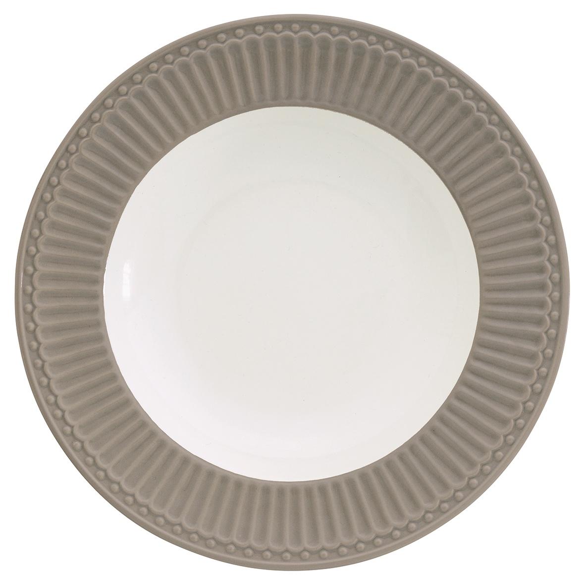Глубокая тарелка Greengate Alice warm grey 21,5 см