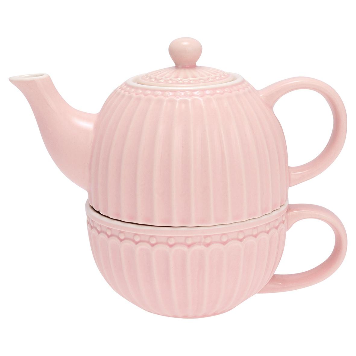 Чайник с чашкой Greengate Alice pale pink