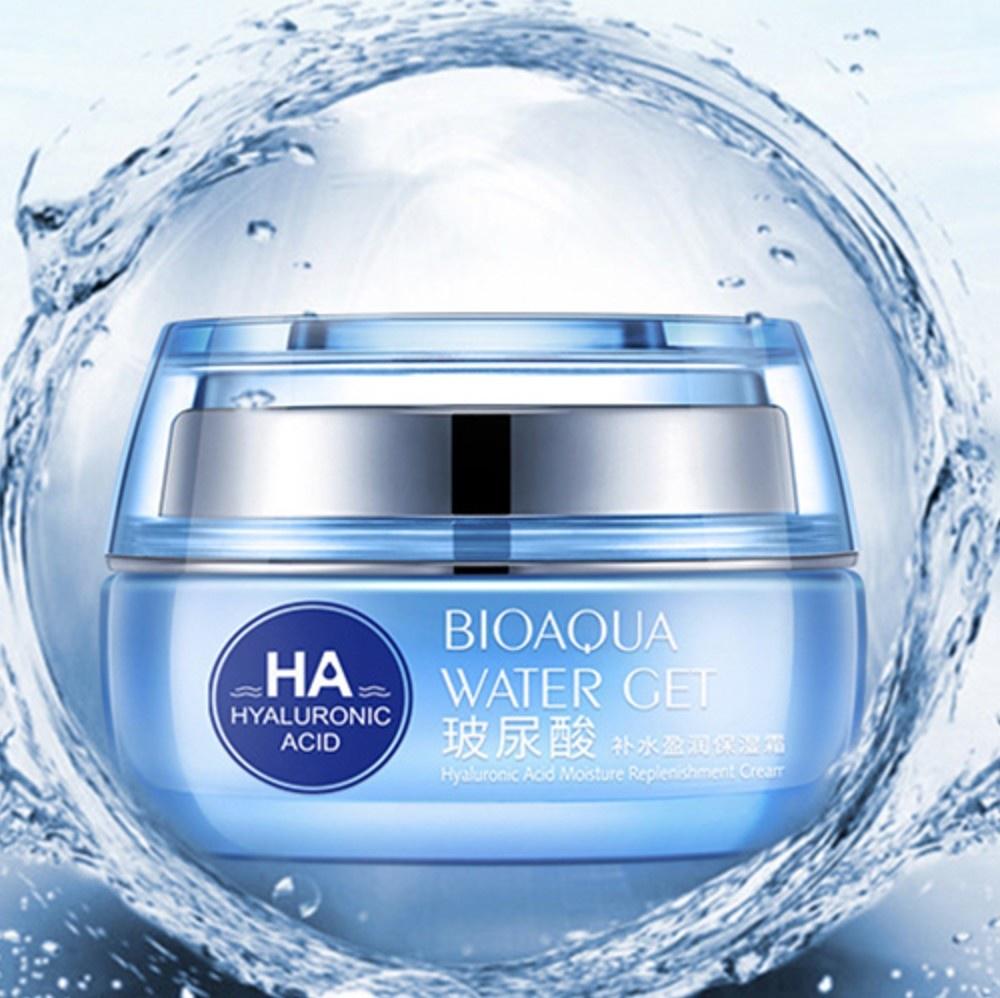 BIOAQUAУвлажняющий крем с гиалуроновой кислотой Hyaluronic acid, 50гр.  Bioaqua